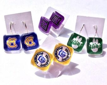 Glass Tile Earrings - 1 Pair