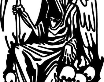 Grim Reaper Sticker (reap 5) - Multiple Colors Available