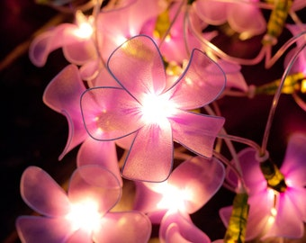 20 Purple Flower String Lights  for Party Wedding and Decorations