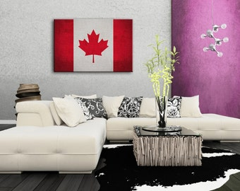 country home decor canada vintage canada flag etsy 10655