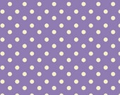 Aunt Grace's Dots- Marcus Fabrics- Lilac with White Dots- R35-5363-0335- 1 Yard Fabric