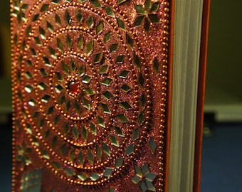 Indian Mirror Jeweled Parchment Paper Notebook