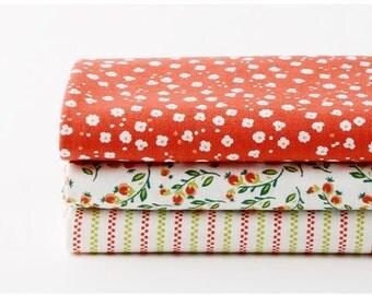 Strawberry - Quarter Fabric Pack 3 Fabric 1 set - Sets for 3 each 45 X 55 cm