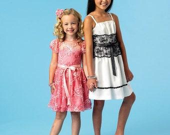 Children's/Girls' Dresses and Sash McCall's Pattern M6880