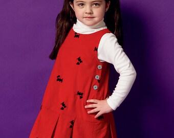 Butterick Sewing Pattern B5945 Children's/Girls' Sleeveless Tent Jumpers
