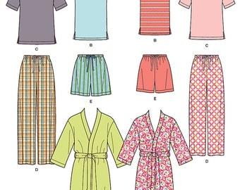 Simplicity Sewing Pattern 1563 Misses' Men's and Teens' Sleepwear