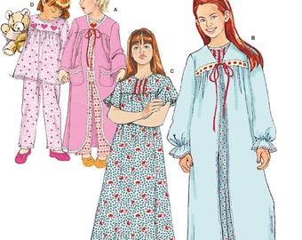 Child's and Girl's Sleepwear Simplicity Pattern 1569