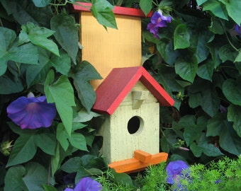 Painted Birdhouse – Green