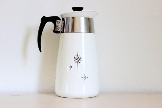 Vintage Corning Ware Starburst Percolator 8 Cup Coffee Pot