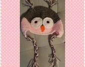 Owl Hat, Crochet Owl Hat, Children's Hat, Adult Hat, Handmade, Crochet Beanie