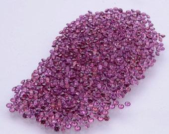 50 Pcs Bag Of Natural Rhodolite Garnet Round 1.00 mm to 2.00 mm