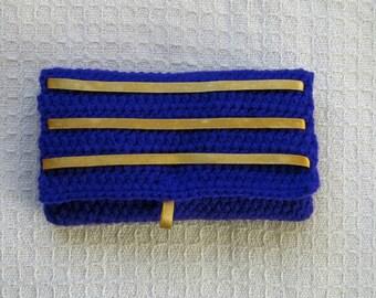 Xmas Sale 20% off !!! Envelope Style Crochet Clutch Bag