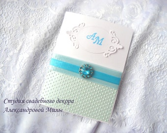 Brooch Wedding Invitations - Couture Invites - Pocketfold Invitation - Classy Wedding Invitation