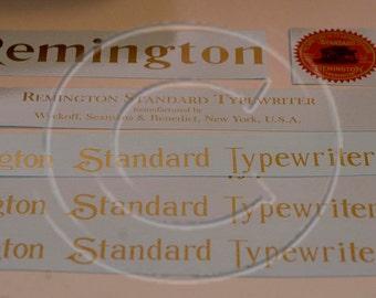 Remington 6, 7 or 10  Typewriter Water Slide Decal set