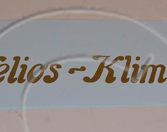 Helios-Klimax Typewriter  Water Slide Decal