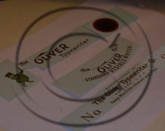 Oliver 9 Typewriter Water Slide Decal Set