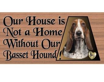 Bassett Hound Wood Signs - Handmade Wood sign, Bassset Hound GS478 Basset Hound wood sign, Basset hound gift
