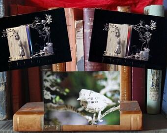Paper Sculpture Fineart Postcards - Complete set: 3 postcards - Les Petites filles modèles
