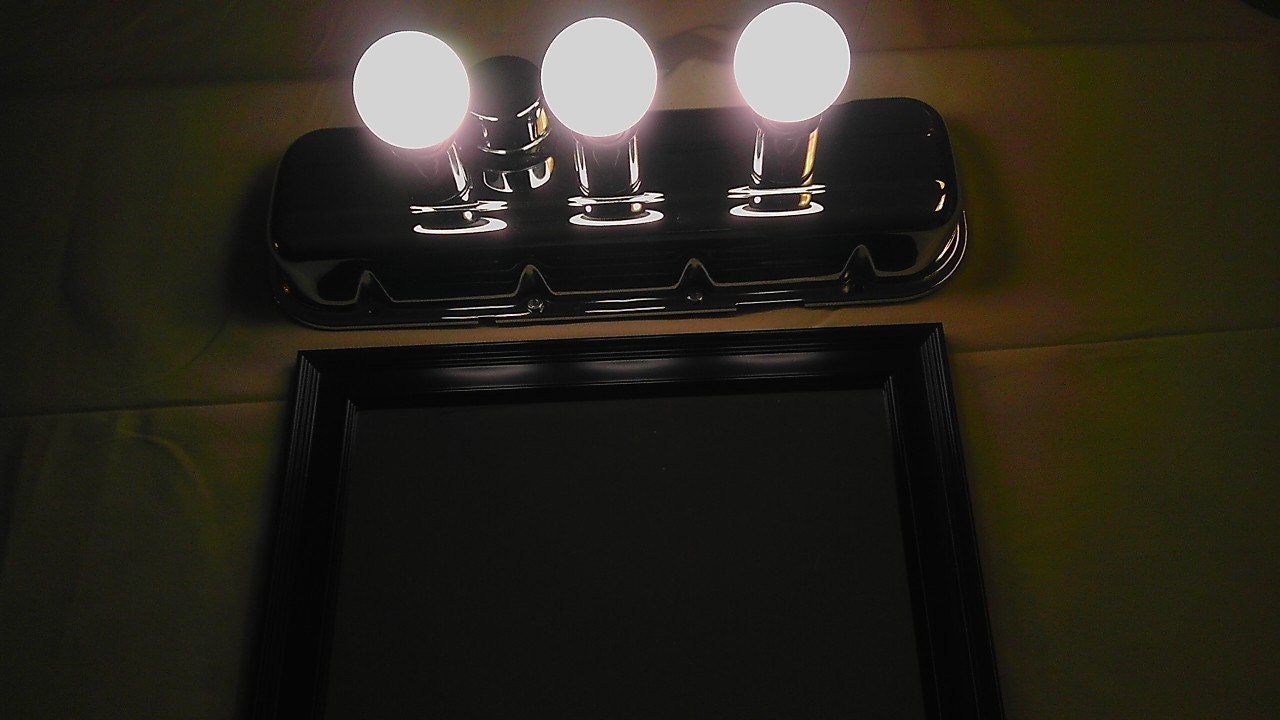 Vanity Lights Cover : Man Cave Light Valve Cover 3 Light Vanity Light IFree