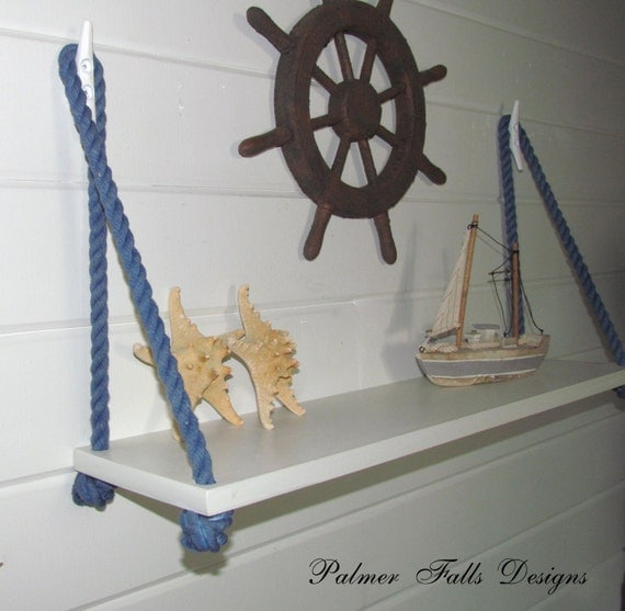 Swing rope shelf nautical nursery beach by for Heavy rope for nautical use