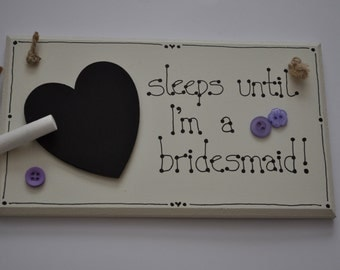 Bridesmaid / flower girl countdown
