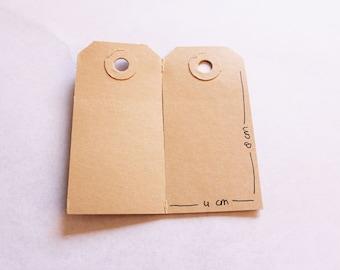 Manilla cardboard tag small, 4x8cm (15 labels)