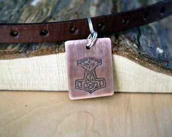Thor's Hammer - Pet Tags - Pet ID Tag - Dog Tag - Dog ID Tag - Custom Dog Tag - Personalized Dog Tag - Cat Tag - custom pet tag - - Thor