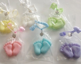 5 x Tiny Feet Soaps - Baby Shower Favours