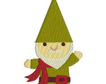 BUY 2, GET 1 FREE - Garden Gnome Machine Embroidery Design