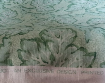 "Lee Jofa Linen ""Tobago"" Leaf Fabric. Made in England."