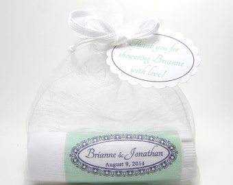 10 Wedding Favors l Bridal Shower l Baby Shower: rich and creamy  personalized lip balms