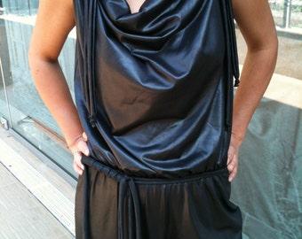 Black Jersey jumpsuit/loose style/urban style jumper