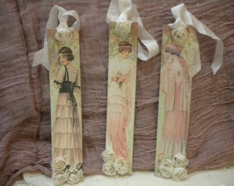 Bookmarks / Hanging Tags Vintage French Women (3)