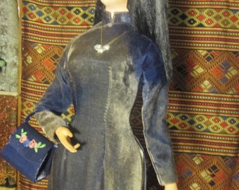 Vintage Vietnamese Doll Bupbe Bach Tuyet  24 Inches Tall
