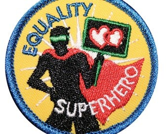 Equality Superhero Gay Badge