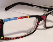 """Hand Painted Reading Glasses. """"Sassy South Western Girl"""". Detailed, unique, colorful & come in all strengths.Made to order  just"""