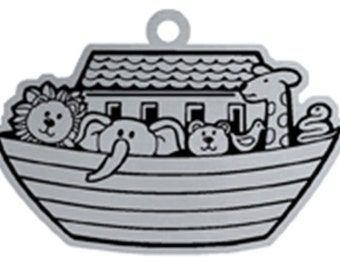 Woodbury Pewter Christmas Noah's Ark Handcrafted Ornament Personalized Engraved Holiday Gift Souvenir Decor
