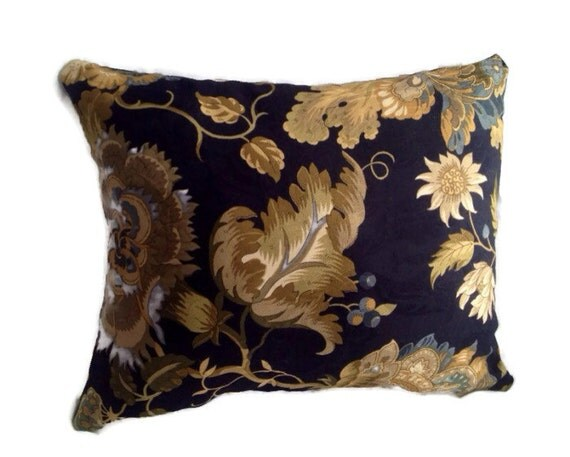 Dark Blue Decorative Pillows : Dark Blue Decorative Toss Pillow dual-sided with shade of