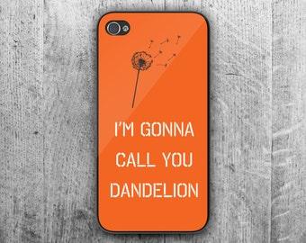 "Orange and Black ""Dandelion"" phone case. Case For - iPhone 4/4S - iPhone 5/5S - iPhone 5C - iPhone 6 - iPhone 6 Plus"