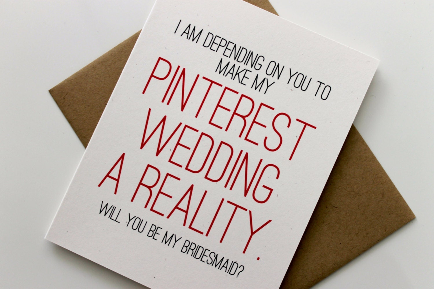 Funny Will You Be My Brides Maid Card Bridesmaid By