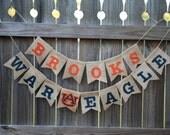 Auburn Birthday Party / Auburn Baby Shower / War Eagle Banner