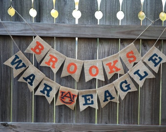 Auburn Birthday Party / Auburn Baby Shower / War Eagle Banner