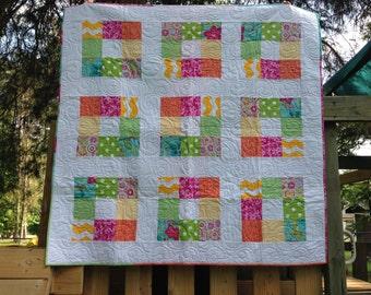 Bright Modern Patchwork Quilt