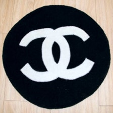 Chanel Coco Cc Logo Inspired Round Circle Shape Handmade