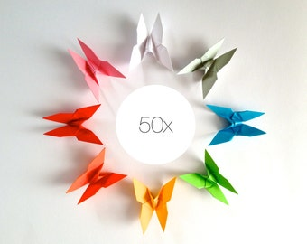 50 x origami Butterfly Butterfly