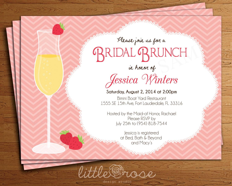 mimosa bridal brunch onepaperheart stationary invitations