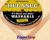 "PEACH - Hug Snug Seam Binding - 100 yard roll 1/2"" Wide - 100% Woven-Edge Rayon - Sewing Trim & Craft Supply - Wholesale Ribbon"