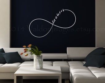 infinity let it be wall decal dorm room wall decor bedroom wall decal - Teen Wall Decor
