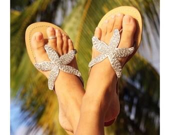 Aspiga Starfish Silver Leather Sandals