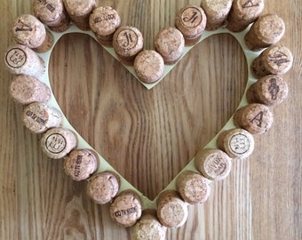 Wine Cork Wreath Shabby Chic Vintage inspired